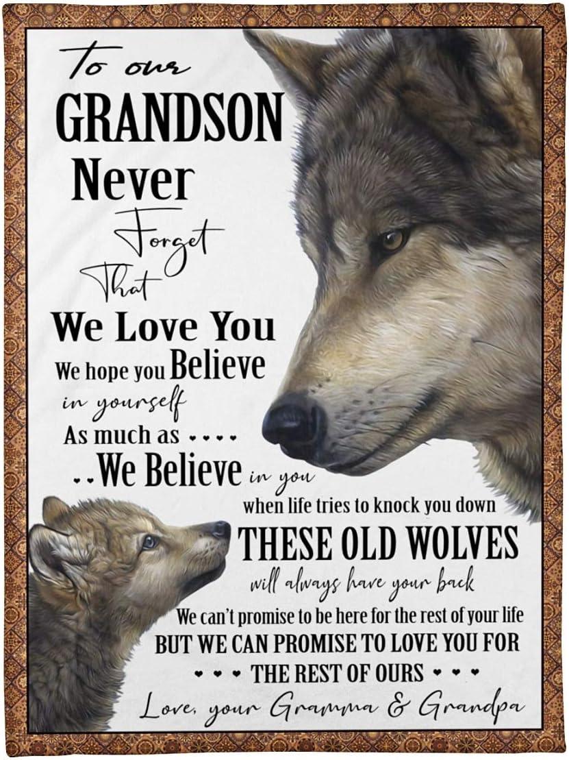 Personalised お得なキャンペーンを実施中 並行輸入品 Custom Name Grandparent to Blanket G Grandson My