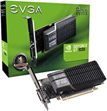 EVGA GeForce GT 1030 SC 2GB GDDR5 Passive, Low Profile Graphics Card 02G-P4-6332-KR