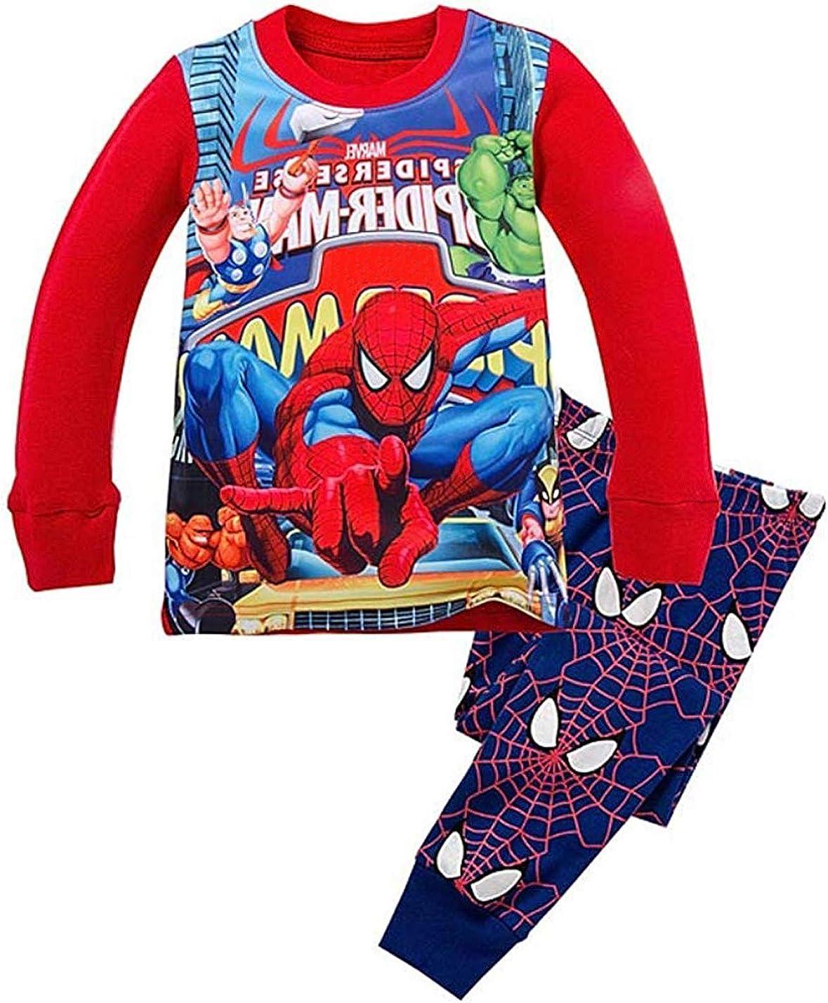N'aix Little Recommendation Boys Cotton Pajamas Max 42% OFF Cartoon Super Sleepwears Kid`s