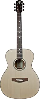 Teton Grand Concert Steel String Acoustic Guitar Solid Spruce Top Mahogany Back/Sides, STG100NT