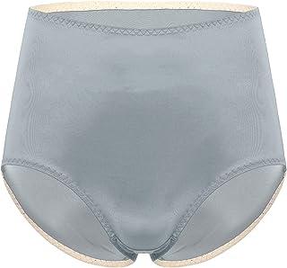 FEESHOW Men High Waist Briefs Bulge Pouch Underwear Solid Color Smooth Underwear
