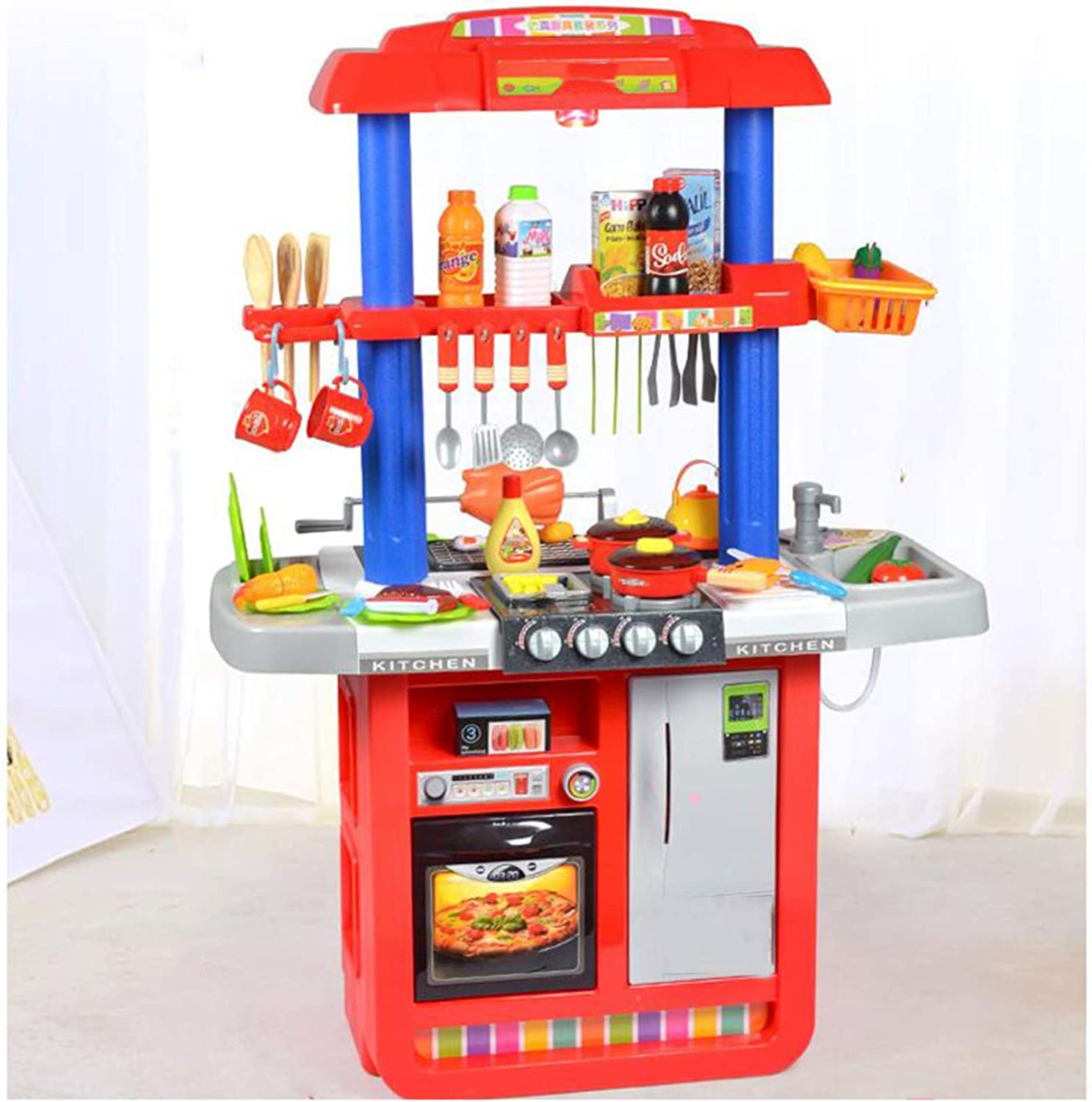 XCXDX Luxury Double-sided Kitchen Toys, Barbecue Stalls Toys With Sound Lighting, Bright colors, Creative Gifts