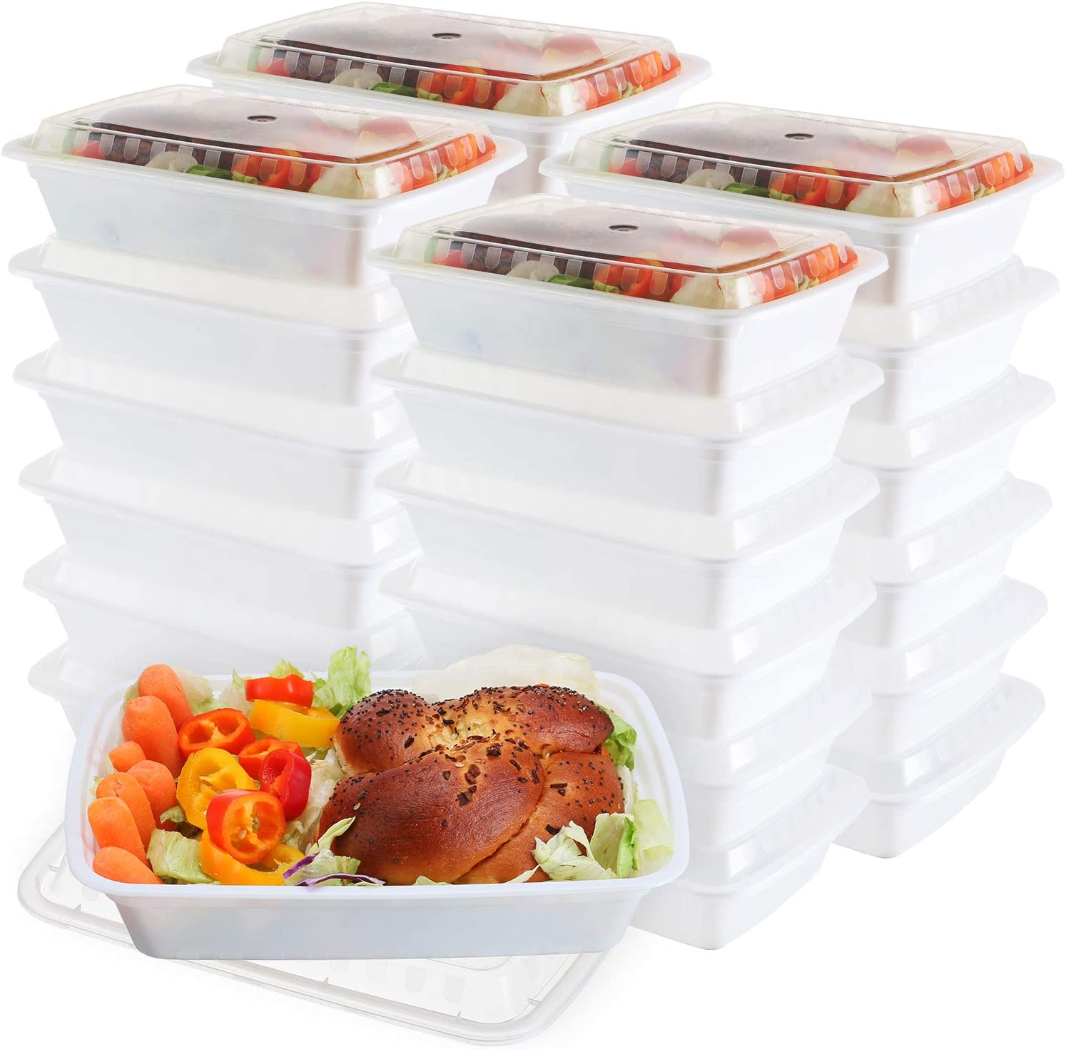 Nippon regular agency 50-Pack meal prep Containers - Single Compartment 1 bowls L Fashion with