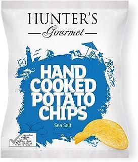 Hunter's Gourmet Hand Cooked Potato Chips Sea Salt - 125gm