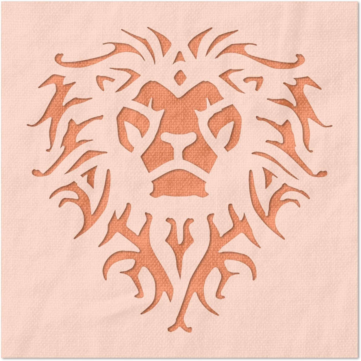 Stencil Stop Ornate Lion - DIY Elegant for Projects Reusable Pa Now on sale