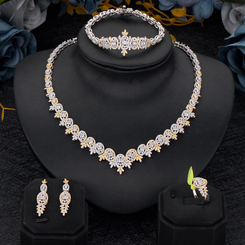 SYXMSM Jewellery Set Women Wedding Zirconia Jewelry 4 Regular Popular popular discount Cubic