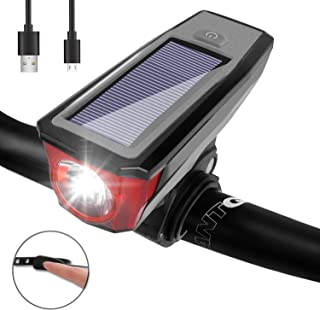 Venoro Ultra Bright Bike Light Set Front and Rear, USB Rechargeable Waterproof Bicycle Light Cycling Safety Flashlight, Red or White 16 LEDs 4 Modes, Fits On Any Road Bikes, Helmets