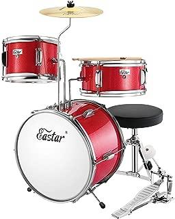 red kids drum set