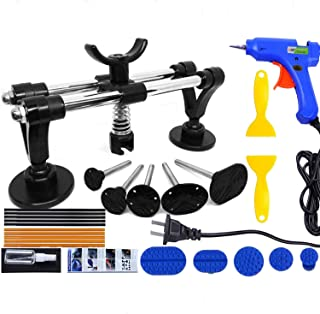 Auto Body Dent Repair Tool Kit, PDR Car Dent Puller Auto Paintless Dent Removal Repair Tools Set with Dent Lifter,Glue Gun,Glue Sticks,Glue Puller Tabs More for Car Dent Remover,Hail Damage&Minor dent