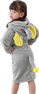 Boys' Girls' Hooded Bathrobe Soft Animal Plush Robe Kids Sleepwear Dressing Gown Gift