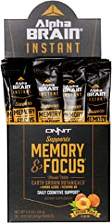 ONNIT Alpha Brain Instant (30ct Box) - Premium Nootropic Brain Booster Supplement - Boost Focus, Concentration & Memory - Alpha GPC, L Theanine & Bacopa Monnieri
