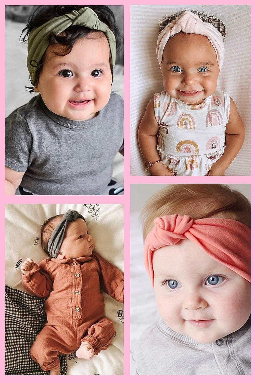 CBOO Extensible Bandeaux b/éb/é Filles Naissance avec des arcs Bandeau b/éb/é Fille Turban Bandeau /à n/œud nou/é /à Cheveux pour b/éb/és Filles Enfant Fille Accessoires