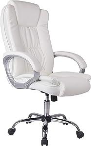 Venta-stock Sedia direzionale da Ufficio Confort 2, Regolabile, in Pelle Sintetica, Bianco