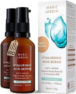 Hyaluron Serum mit Vitamin C und Q10, hochdosiert, 100 ml, mit geprüftem 5-fach..