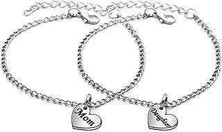 JJIA Mother Daughter GITS, 2Pcs Women Bracelets Bangle for Mom Daughter Birthday