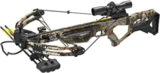 PSE Crossbow Coalition | Hunting | Compound | Camo | 380FPS | Cocking Rope, Wax, Quiver, Arrows, Scope | for Left and Right Hand