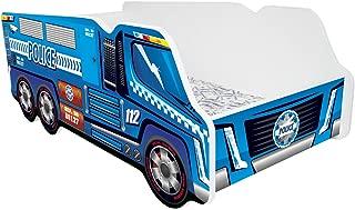 TODDLER CHILDREN KIDS BED INCLUDING MATTRESS CAR TRUCK  Police Truck