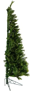 Fraser Hill Farm 7.5-Ft. Canyon Pine Half-Wall or Corner Christmas Tree with Clear Lights, Green