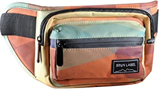 Water Resistant Fanny Pack with Two Zip Compartments, Secret Pocket and Adjustable Strap for Festivals, Travelling, Hiking, Running, Cycling and More