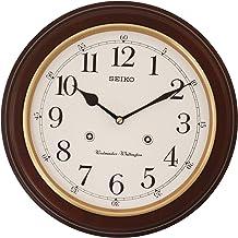 Seiko Wall Clock (31.4 cm x 31.4 cm x 6.1 cm, Brown, QXH202ZN)