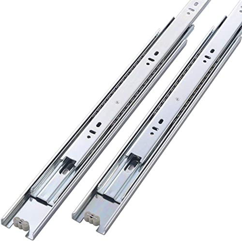 Friho 10 Pair of 22 Inch Hardware Ball Bearing Side Mount Drawer Slides, Full Extension, Available in 10'',12'',14'',...