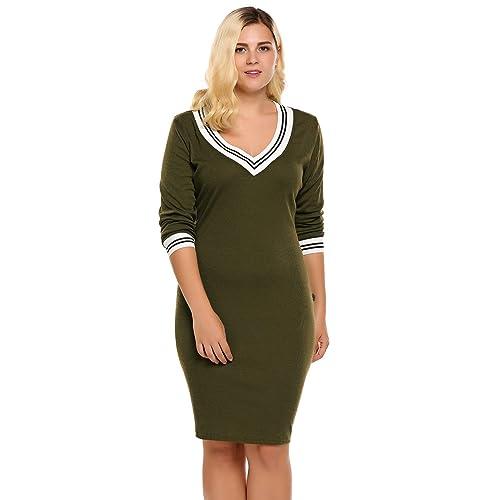 Sweater Dress in Plus Size: Amazon.com