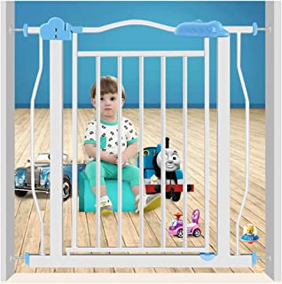 HONGNA Telescopic Pet Fence Baby Gates For Stairs Fence Isolation Door Free Punching Self Closing  Color High77cm  Size 167-177cm
