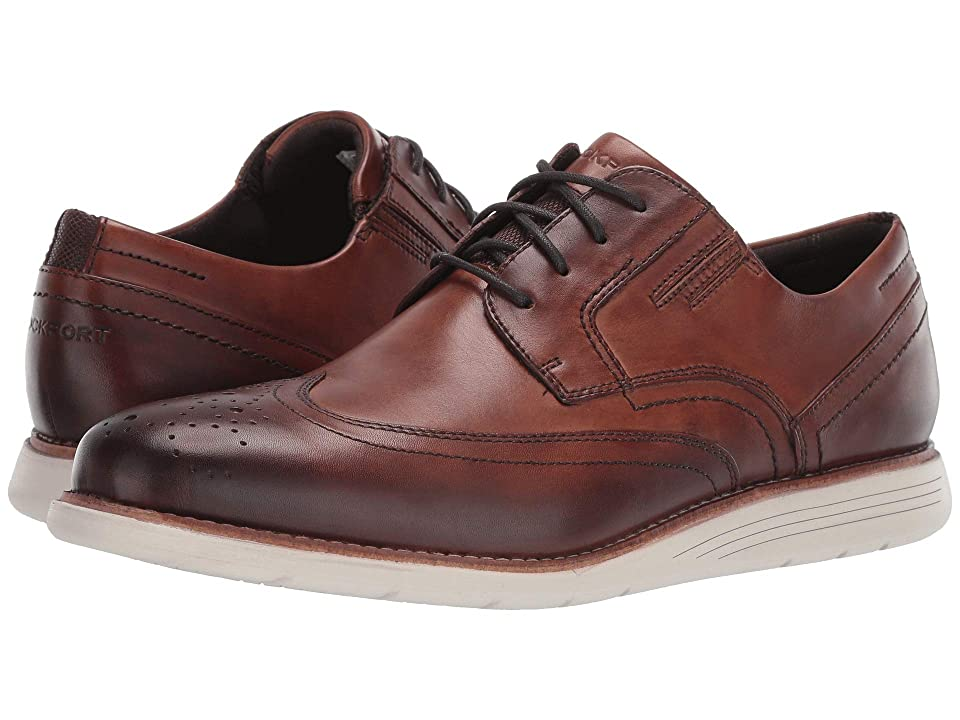 Rockport Total Motion Sports Dress Wing Tip (Cognac) Men