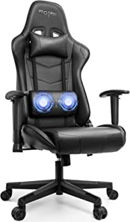 MOTPK Gaming Chair Racing Style Ergonomic High Back Computer Chair with Massage Lumbar Support, Height Adjustment, Headres...