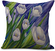 Colorsful Flower Decorative Cushion Covers Cotton Linen for Sofa Car Office Bedding Pillow Cover 45x45cm Without Pillow Core