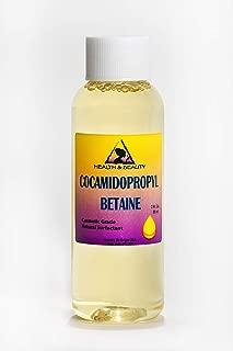 Cocamidopropyl Betaine Coco Betaine CAPB Natural Surfactant Liquid Premium Highest Purity 100% Pure 2 oz