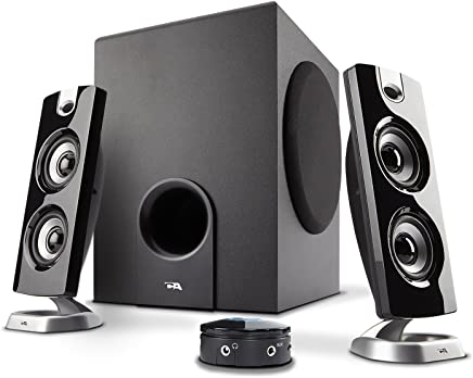 Cyber Acoustics CA-3602FFP 2.1 Speaker Sound System with Subwoofer and Control Pod - Great for Music, Movies, Multimedia Pcs, Macs, Laptops and Gaming Systems