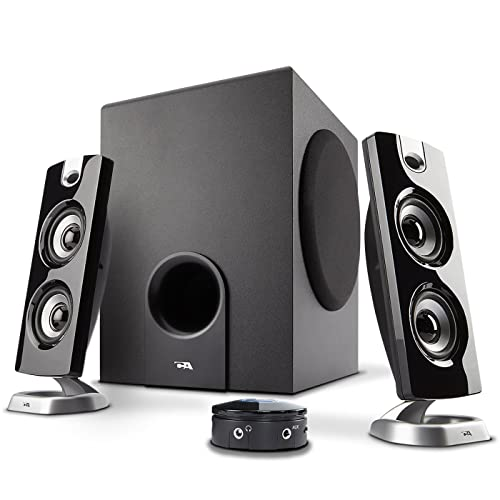 Cyber Acoustics CA-3602FFP 2.1 Speaker Sound System with Subwoofer and Control Pod - Great