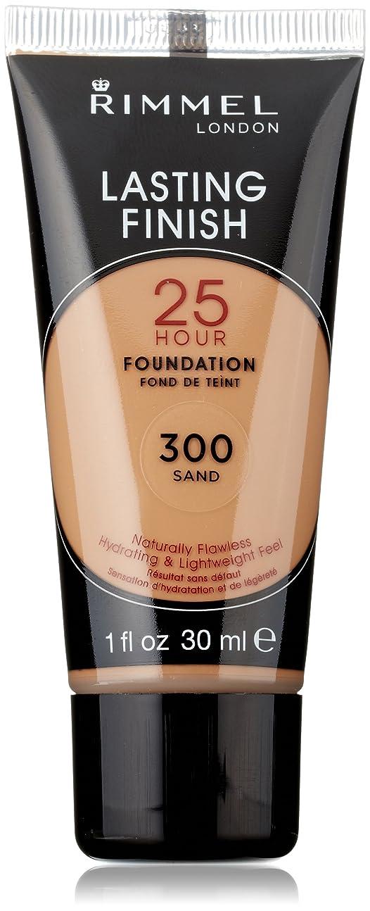 セント変換再生的Rimmel Lasting Finish 25 Hour Liquid Foundation 300 Sand, 1 fl. oz