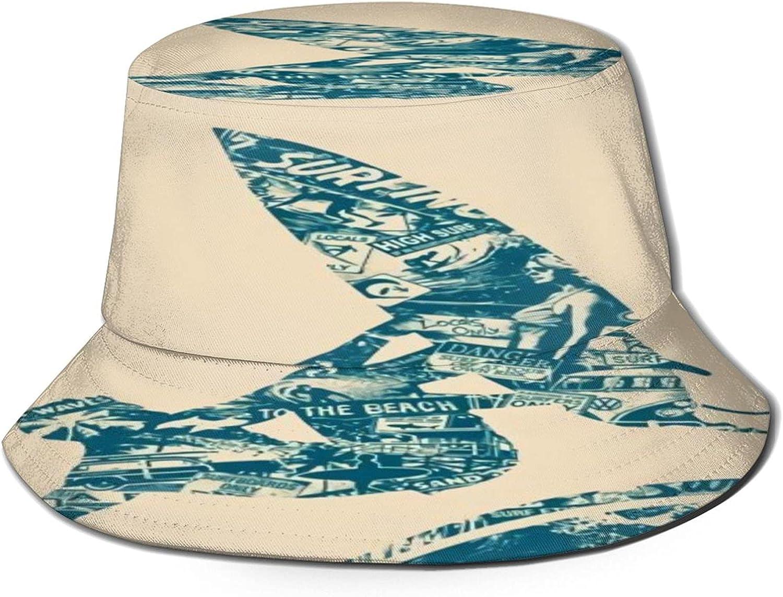 surf Surfing Bucket Hat Unisex Sun Hat Summer Packable Fisherman Hats Black