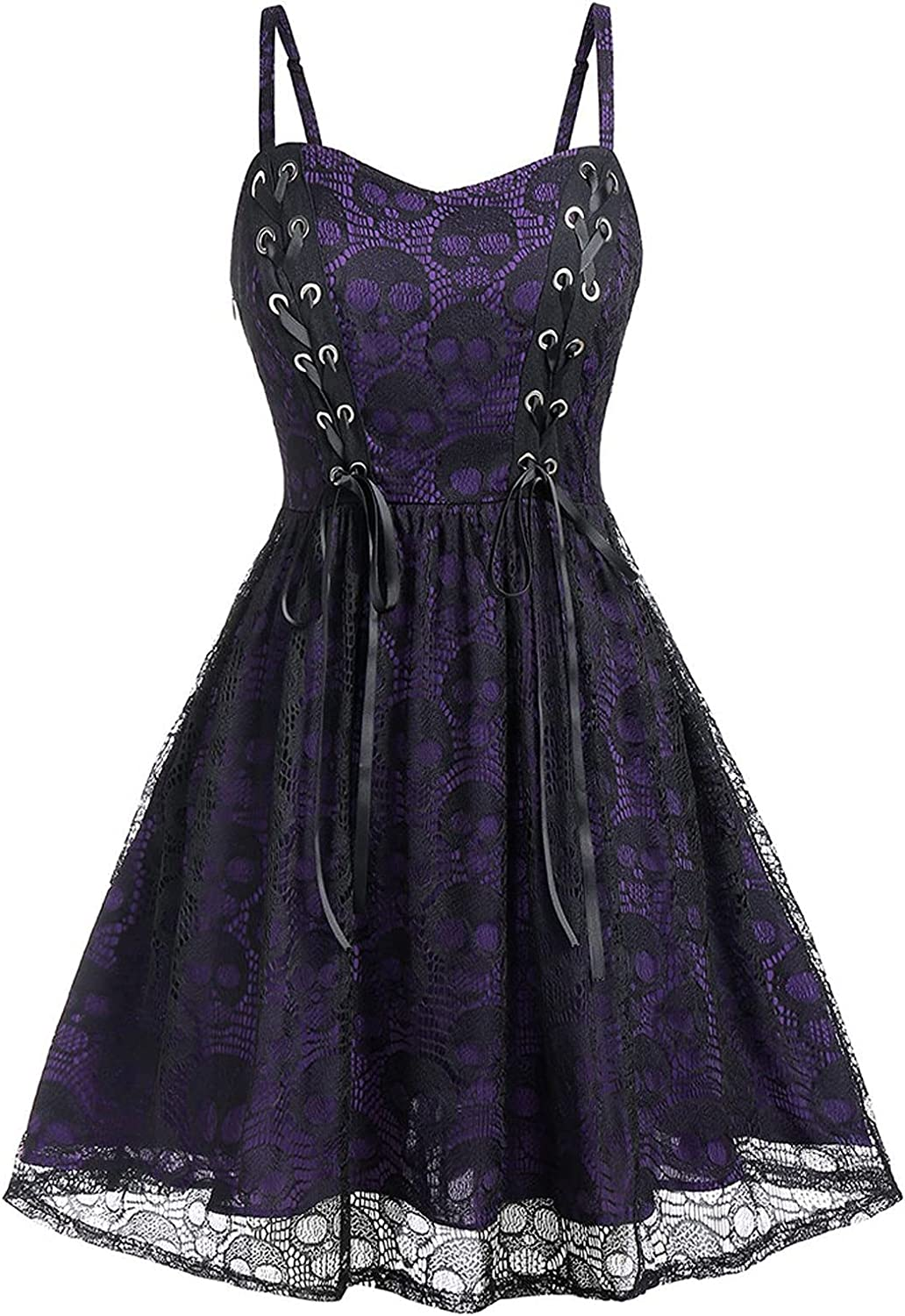 Cheap FDDFG Gothic Ladies Dress Halloween Challenge the lowest price of Japan ☆ Camisol Mesh Sleeveless Lace