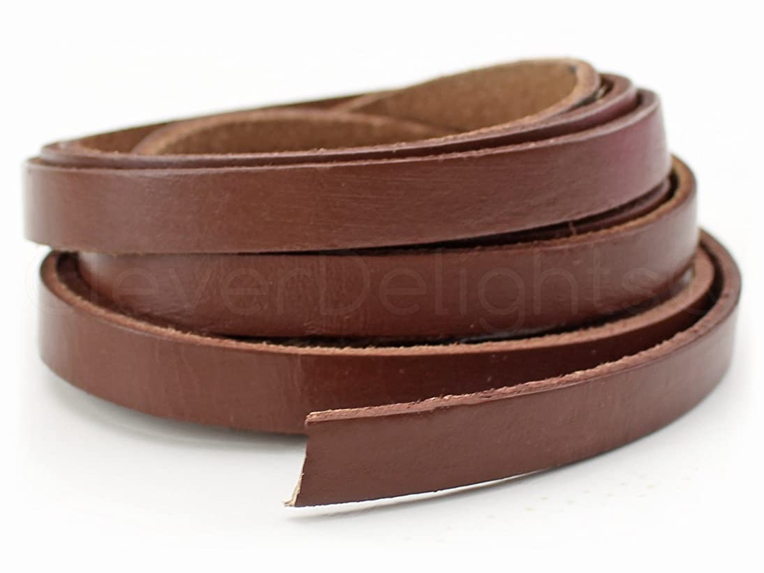 CleverDelights Genuine Leather Strap - Brown - 3/8