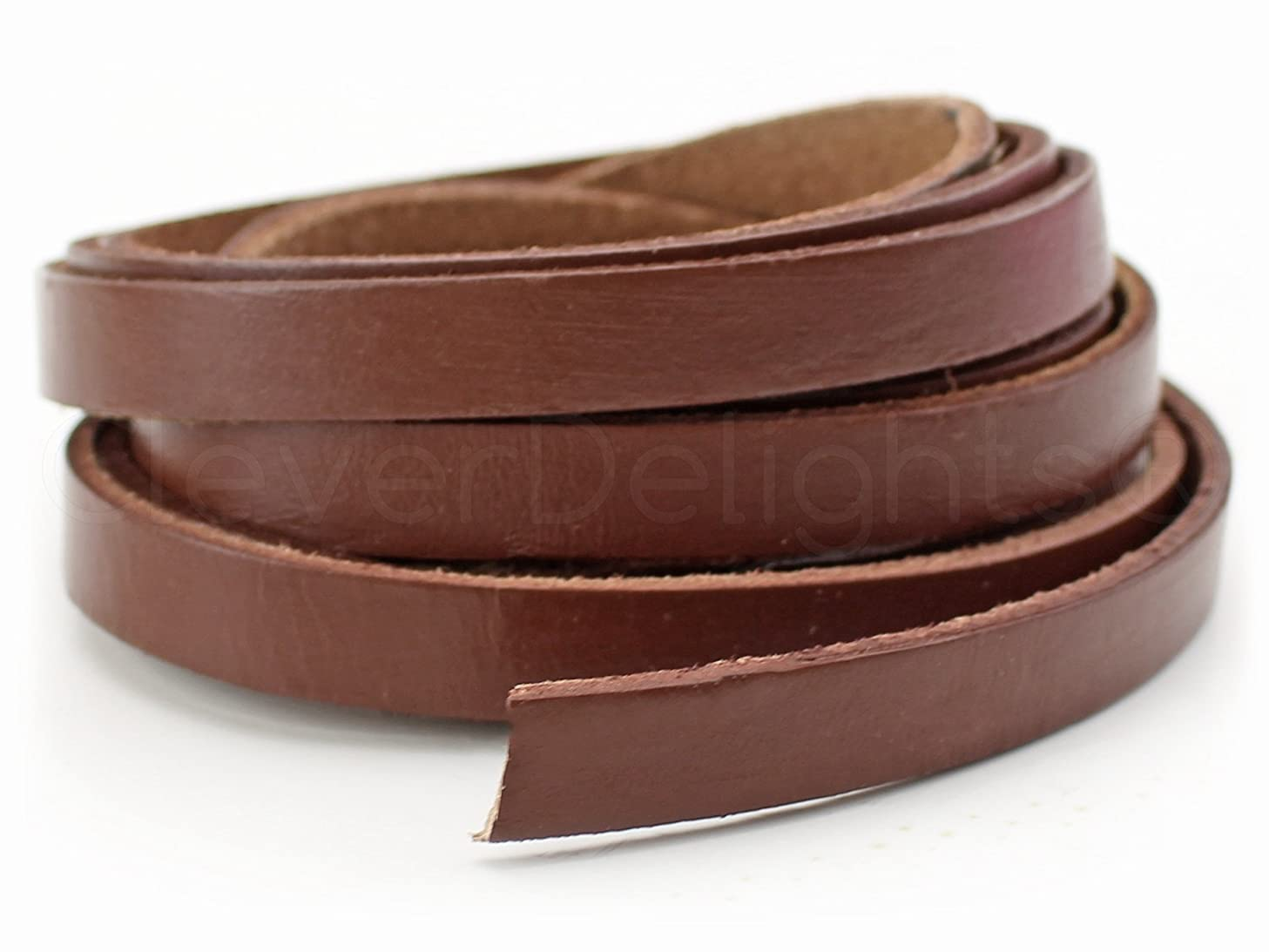 CleverDelights Genuine Leather Strap - 3/8