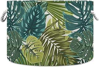 Okrągły kosz do przechowywania kosz tropikalny las deszczowy palma liście monstera składany wodoodporny kosz na pranie dzi...