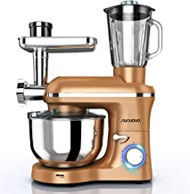Nurxiovo 3 in 1 Home Mixer, 850W kitchen Stand Mixer with 6 Speed and Pulse, Food mixer with 6.5 QT Stainless Steel Bowl, ...