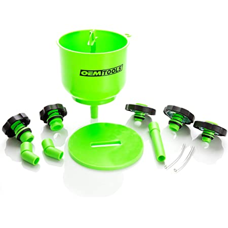 OEMTOOLS 87043 Professional No-Spill Coolant Funnel Kit, Spill Free Funnel for Performing Coolant Flush and Refills, Funnel Automotive Fluids