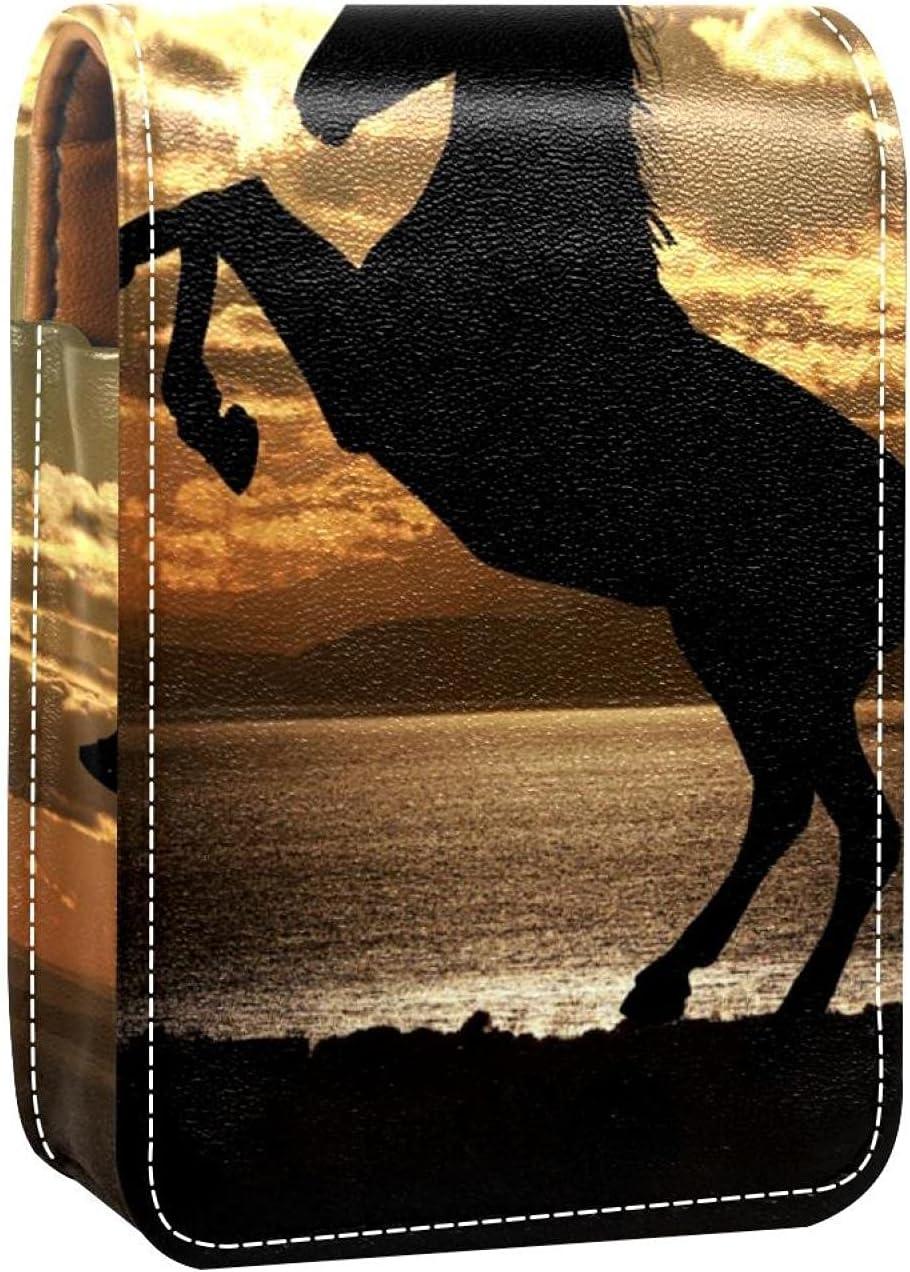 Mini Lipstick Max 59% OFF Case with Mirror For Por Sunset 2021 model Horse Purse Under