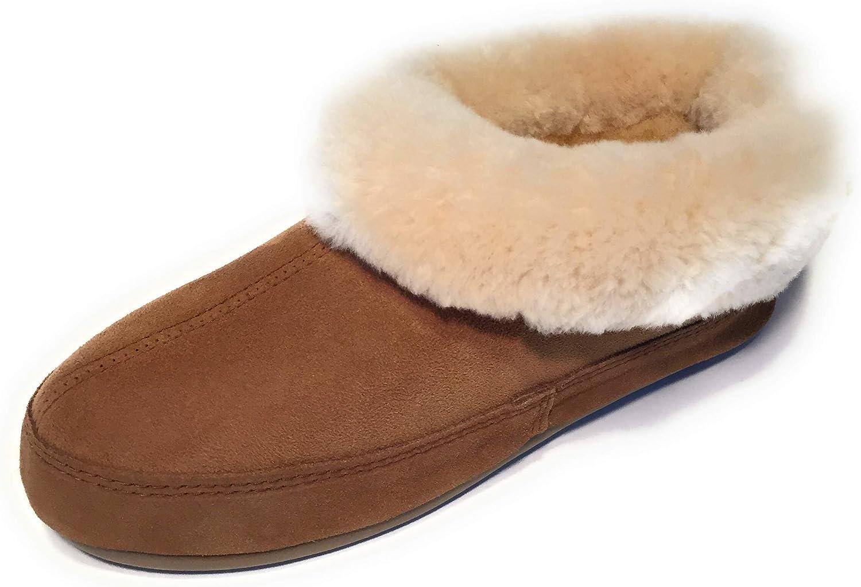 Qwaruba Jasmine Sheepskin Slipper Chestnut Brown
