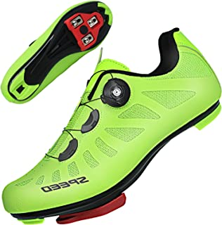 TFNYCT Cycling Shoes Mens Road Bike MTB Bicycle Shoes with Cleats Luminous Mountain Indoor Road Bike Cycling Shoes
