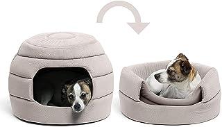 【新色登場】PAWZ Road ペットハウス ベッド 犬 猫 小型犬 中型犬 多用 暖かい 2WAY ハチの巣形 おしゃれ (ベージュ)