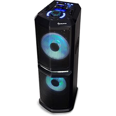 "auna Clubmaster 8000 Système Audio Bluetooth Sono Portable 2 subwoofers 10"" USB"