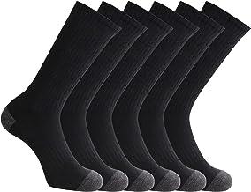 Closemate Mens Cushion Crew Calf Socks Moisture Wicking Athletic Cotton Socks for Sport Training Work 9-12, 3/6 Pairs