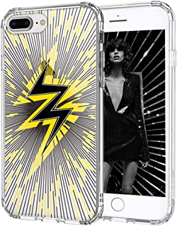 MOSNOVO iPhone 8 Plus Case, Clear iPhone 7 Plus Case, Lightning Pattern Printed Clear Design Transparent Plastic Hard Back Case with TPU Bumper Protective Case Cover for iPhone 7 Plus/iPhone 8 Plus