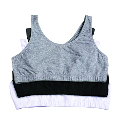 Fruit Of The Loom Cotton Built-up Stretch Sports Bra