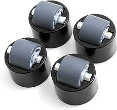 Design61 Set van 4 rollen meubelglijrollen meubelwielen meubelrol met zacht loopvlak
